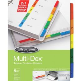 120 Units of Wilson Jones Multidex Divider - Dividers & Index Cards