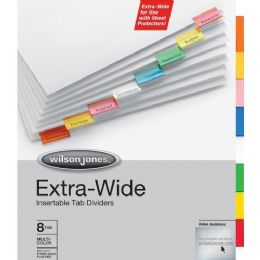Wilson Jones Oversized Insertable Index Divider - Dividers & Index Cards