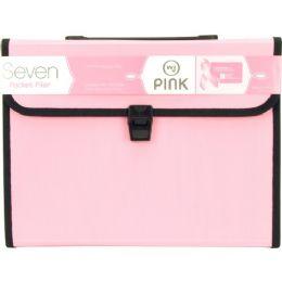 12 Units of Wilson Jones Pink 7-Pocket Filer - File Folders & Wallets