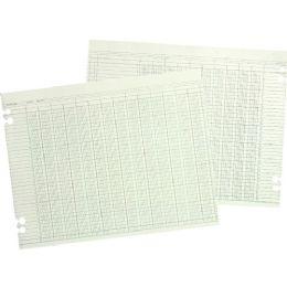 10 Units of Wilson Jones Prepunched Ledger Paper Sheets - Paper