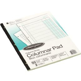 Wilson Jones SidE-Bound Punched Columnar Pads - Note Books & Writing Pads