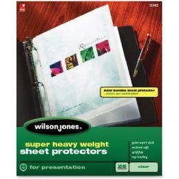 20 Units of Wilson Jones Super Heavy Wt Sheet Protectors - Sheet protector