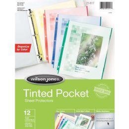 Wilson Jones Tinted Pocket Sheet Protector - Sheet protector
