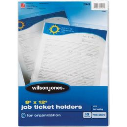 Wilson Jones ToP-Loading Job Ticket Holders - Office Supplies