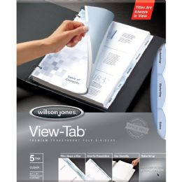 48 Units of Wilson Jones View-Tab Transparent Divider - Dividers & Index Cards
