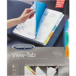 Wilson Jones View-Tab Transparent Divider - Dividers & Index Cards