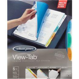 Wilson Jones VieW-Tab Transparent Divider Set - Dividers & Index Cards
