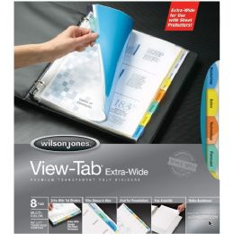 36 Units of Wilson Jones View-Tab Transparent Dividers, Extra Wide - Dividers & Index Cards