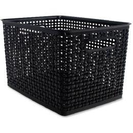 Advantus Plastic Weave Bin - Storage & Organization