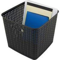 132 Units of Advantus Plastic Weave Bin - Storage & Organization