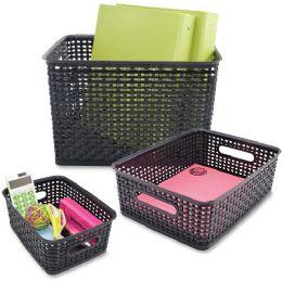 Advantus Plastic Weave Bins - Storage & Organization
