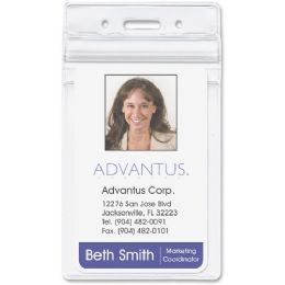 Advantus Vertical Re-sealable Badge Holder - Badge holder