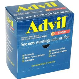 24 Units of Advil Pain Reliever Single Dose Packets 50 Pack - Pain and Allergy Relief