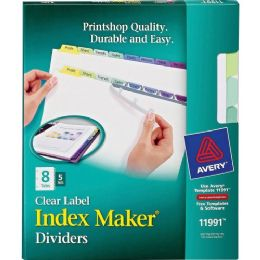 Avery 8-Colored Tabs Presentation Divider - Dividers & Index Cards
