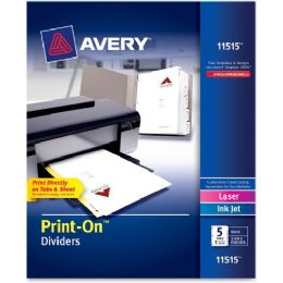 Avery Avery Customizable PrinT-On Dividers - Dividers & Index Cards