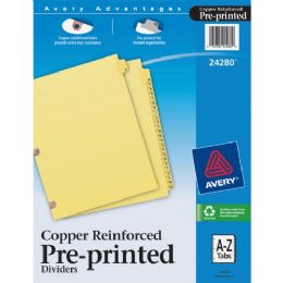 Avery A-Z Copper Reinforced Laminated Tab Divider - Dividers & Index Cards