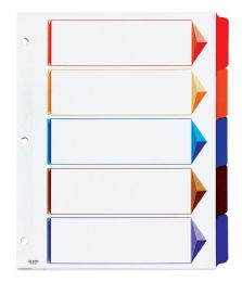 12 Units of Oxford OmnI-Dex ColouR-Coded Tab Dividers - 5 Tabs, LetteR-Size, Assorted, 5/st - Dividers & Index Cards