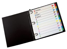 12 Units of Oxford Omni-Dex Color Coded Tab Dividers, 12 Tab, Assorted - Dividers & Index Cards