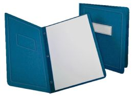 5 Units of Oxford Panel & Border Front Report Cover, Letter Size, Blue - Report cover