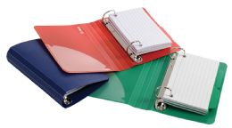 6 Units of Oxford Poly Index Card Binders, 3 X 5, Assorted, No Color Choice, 2 Each - Binders