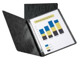 10 Units of Oxford Pressboard Report Covers With Scored Side Hinge, Black - Report cover