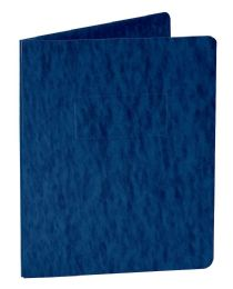 10 Units of Oxford Pressboard Report Covers with Scored Side Hinge, Dark Blue - Report cover