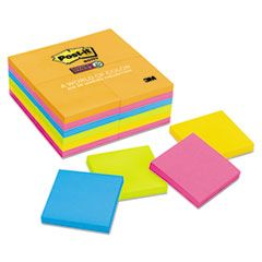 Pads In Rio De Janeiro Colors, 3 X 3, 90-Sheet, 24/pack - Adhesive note