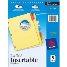 Avery Big Tab Reinforced Insert Divider - Dividers & Index Cards