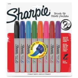 64 Units of Sharpie Brush Tip Permanent Markers - Markers