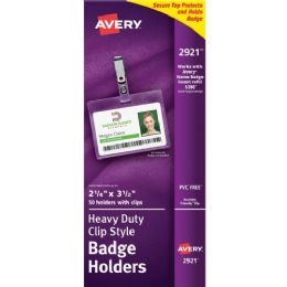 Avery Landscape Badge Holder with Clip - Badge holder