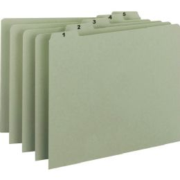 Smead 50369 Gray/Green 100% Recycled Pressboard Guides with Monthly and Daily Indexed Sets - School and Office Supply Gear