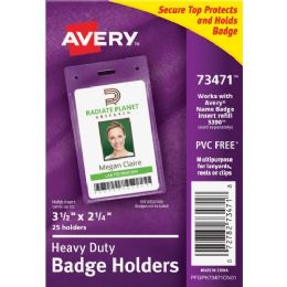 36 Units of Avery Secure Top ID Badge Holder - Badge holder