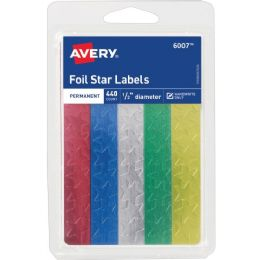 Avery Self-Adhesive Foil Stars - School and Office Supply Gear
