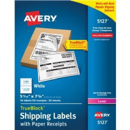 Avery Shipping Label With Paper Receipt - Labels