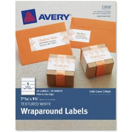 30 Units of Avery Textured Wraparound Address Labels - Labels