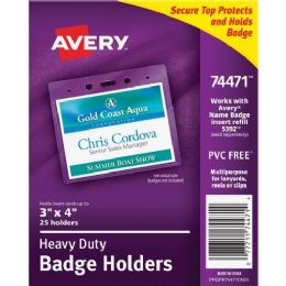 Avery Top Loading Horizontal Badge Holder - Badge holder