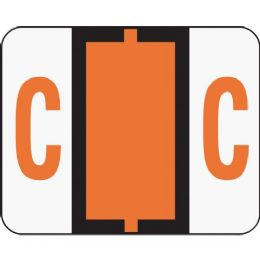 Smead 67073 Dark Orange Bccr BaR-Style ColoR-Coded Alphabetic Label - C - Labels