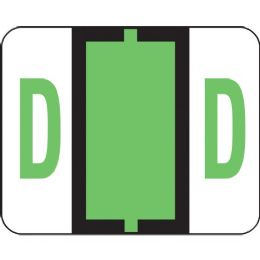 Smead 67074 Light Green Bccr BaR-Style ColoR-Coded Alphabetic Label - D - Labels