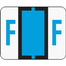 Smead 67076 Blue Bccr BaR-Style ColoR-Coded Alphabetic Label - F - Labels