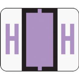 Smead 67078 Lavender Bccr BaR-Style ColoR-Coded Alphabetic Label - H - Labels