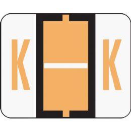 Smead 67081 Light Orange Bccr BaR-Style ColoR-Coded Alphabetic Label - K - Labels