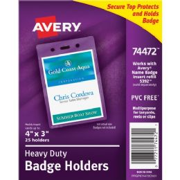Avery Vertical Style Heavy-Duty Badge Holder - Badge holder