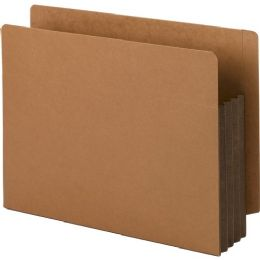3 Units of Smead 73681 Dark Brown Extra Wide End Tab File Pockets With Reinforced Tab And Colored Gusset - File Folders & Wallets