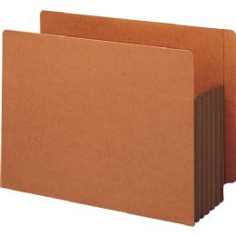 Smead 73691 Dark Brown Extra Wide End Tab File Pockets With Reinforced Tab And Colored Gusset - File Folders & Wallets