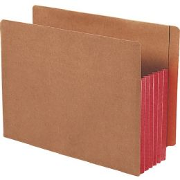 Smead 73696 Red Extra Wide End Tab File Pockets With Reinforced Tab And Colored Gusset - File Folders & Wallets