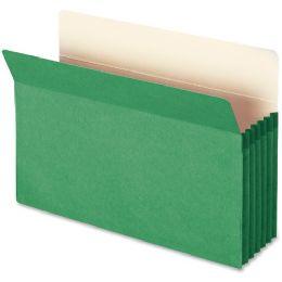 Smead 74236 Green Colored File Pockets - File Folders & Wallets