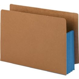 3 Units of Smead 74679 Blue Extra Wide End Tab File Pockets With Reinforced Tab And Colored Gusset - File Folders & Wallets