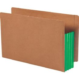 3 Units of Smead 74680 Green Extra Wide End Tab File Pockets With Reinforced Tab And Colored Gusset - File Folders & Wallets