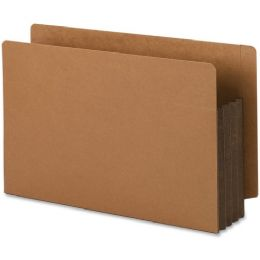 Smead 74681 Dark Brown Extra Wide End Tab File Pockets With Reinforced Tab And Colored Gusset - File Folders & Wallets