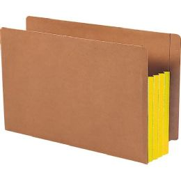 3 Units of Smead 74688 Yellow Extra Wide End Tab File Pockets With Reinforced Tab And Colored Gusset - File Folders & Wallets